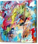 Abstract with Drips and Splashes Canvas Print