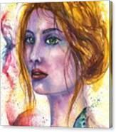 Abstract women face Canvas Print