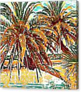 Abstracted Loop Palms Canvas Print