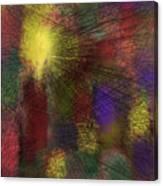 Abstraktion in Farben Canvas Print