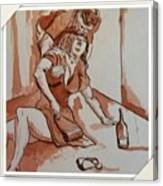 Drunken Wife Canvas Print