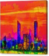 Abu Dhabi Skyline - Da Canvas Print