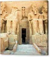 Abu Simbel 2 Canvas Print