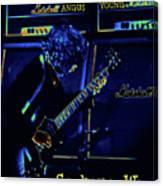 Ac Dc Electrifies The Blues In Spokane Canvas Print