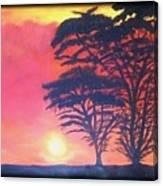 Acacias At Masai Mara Canvas Print