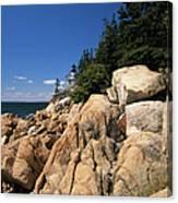 Acadia National Park Maine - Bass Harbor Head Lighthouse Canvas Print