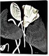 Accordion Leaf Flowers Canvas Print