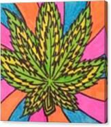 Aceo Cannabis Abstract Leaf  Canvas Print