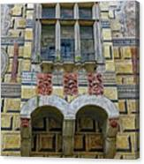 Achitecture Of The Little Castle Within Cesky Krumlov In The Czech Republic Canvas Print