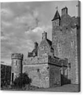 Ackergill Tower 1119 Bw Canvas Print
