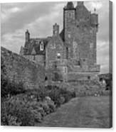 Ackergill Tower 1173 Bw  Canvas Print