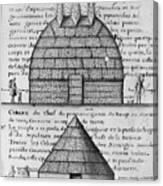 Acolapissa Temple & Cabin Canvas Print