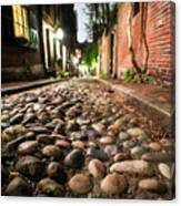 Acorn Street Cobblestone Detail Boston Ma Canvas Print