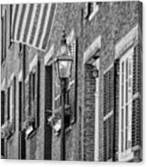 Acorn Street Details Bw Canvas Print