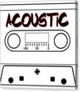 Acoustic Music Tape Cassette Canvas Print