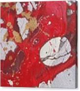 Acrobat On Stilts Is Resting On A Tissue Canvas Print