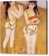 Acrobats At The Cirque Fernando Francisca And Angelina Wartenberg 1879 Canvas Print