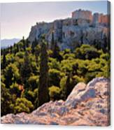 Acropolis In The Morning Light Canvas Print