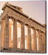 Acropolis Parthenon At Sunset Canvas Print