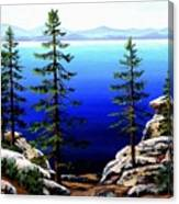 Across Lake Tahoe Canvas Print