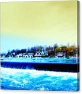 Across The Dam To Boathouse Row. Canvas Print