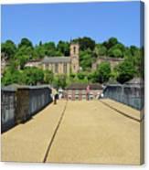 Across The Iron Bridge Canvas Print