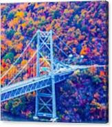 Across The Other Side Of Bear Mountain Bridge Canvas Print