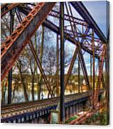 Across The Water 6th Street Rr Bridge Augusta Georgia Art Canvas Print