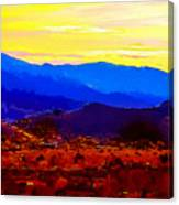 Acton California Sunset Canvas Print