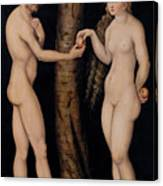 Adam And Eve In The Garden Of Eden Canvas Print