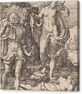 Adam And Eve Lamenting The Death Of Abel Canvas Print
