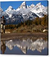 Adam Jewell At Schwabacher Landing Canvas Print
