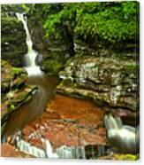 Adams Falls Landscape Canvas Print
