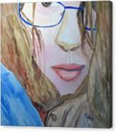Addie In Blue Canvas Print