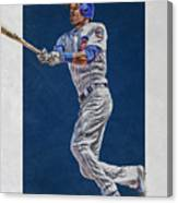 Addison Russell Chicago Cubs Art Canvas Print