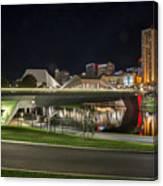 Adelaide Riverbank At Night II Canvas Print