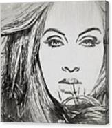 Adele Charcoal Sketch Canvas Print