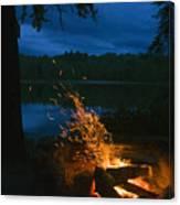 Adirondack Campfire Canvas Print