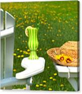 Adirondack Chair On The Grass  Canvas Print