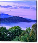Adirondack Mountains In Fog Canvas Print