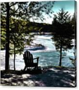 Adirondack Silhouette Canvas Print