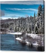 Adirondack Snowfall Canvas Print