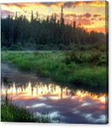 Adirondack Sunrise Canvas Print