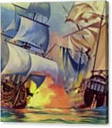 Admiral Hood's Fleet In The West Indies Canvas Print