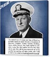 Admiral Nimitz Speaking For America Canvas Print