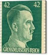 Adolf Hitler 42 Pfennig Stamp Classic Vintage Retro Canvas Print