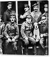Adolf Hitler With  Fellow Soldiers From The List Regiment  Number Two Circa 1916 Canvas Print