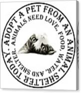 Adopt A Pet T-shirt Design Canvas Print