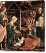 Adoration Of The Child With Saints 1460 65 Fra Filippo Lippi Canvas Print