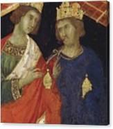 Adoration Of The Magi Fragment 1311 Canvas Print